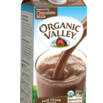 Organic Valley chocolate milk is available locally at area IGA stores